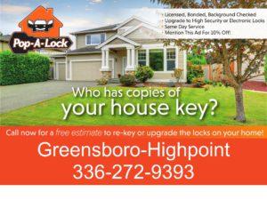 Rekey house Greensboro NC