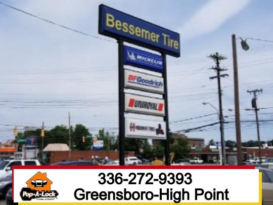 Commercial Locksmith for Tire Company Greensboro NC